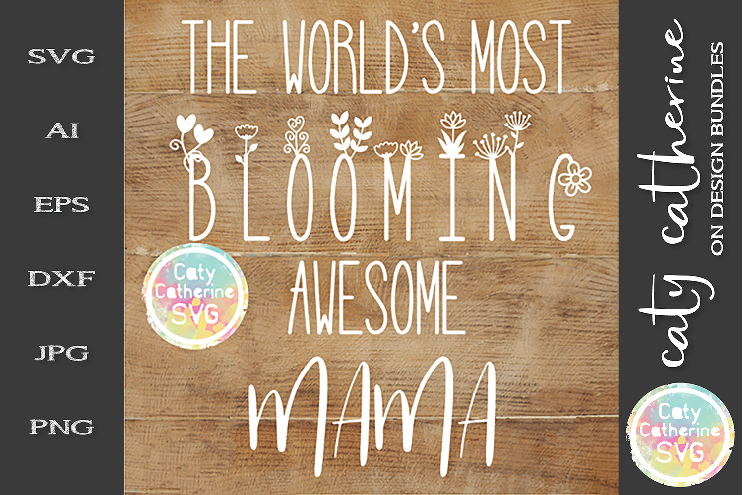 The World's Most Blooming Awesome Mama SVG example image 1