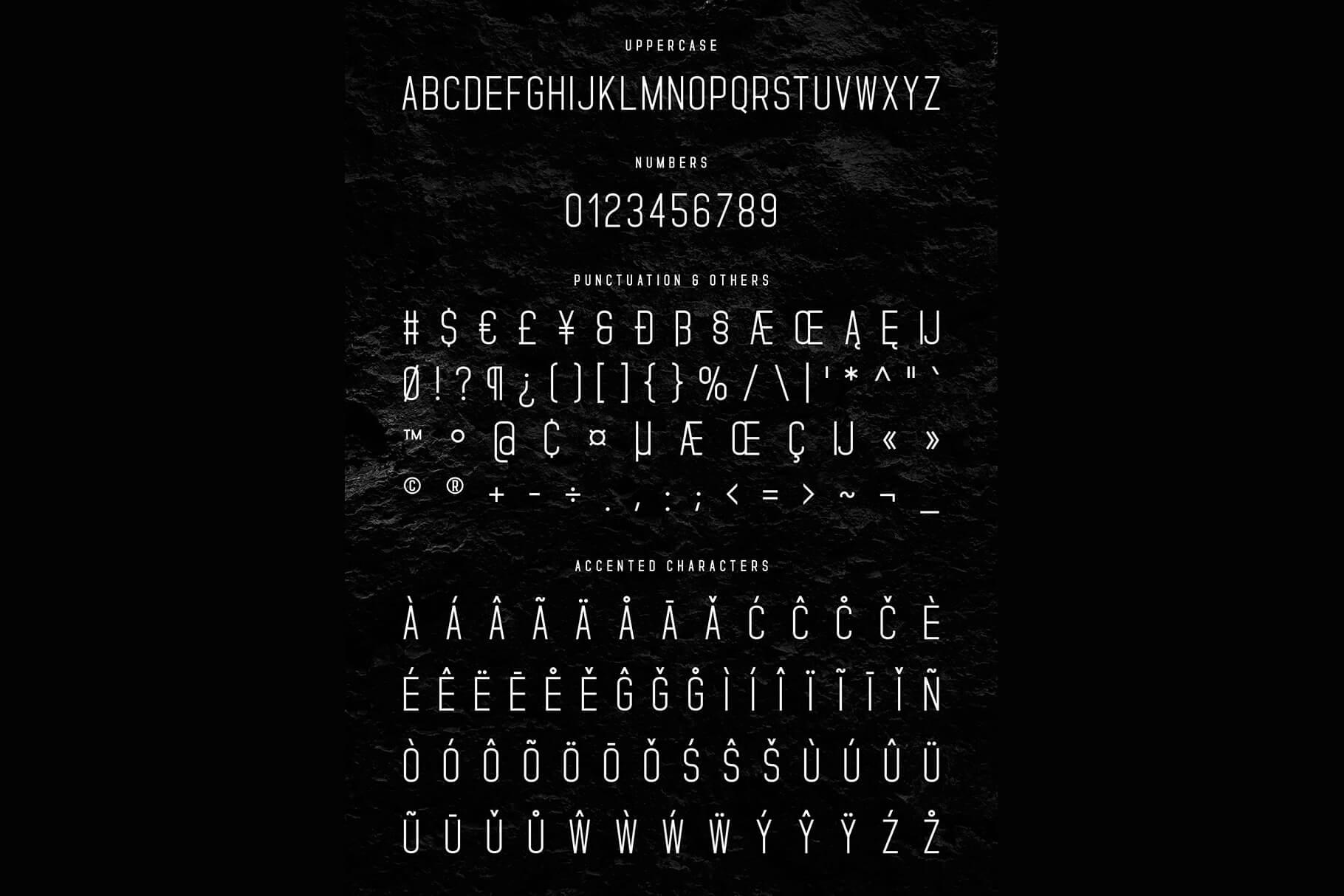 Standaris Font Family Sans Serif example image 11