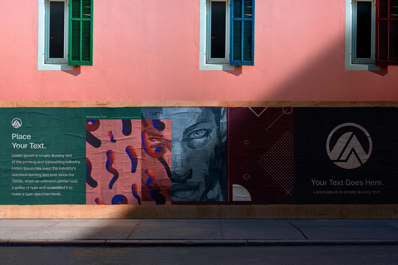 12 Realistic Mural Street Mockup - PSD example image 28
