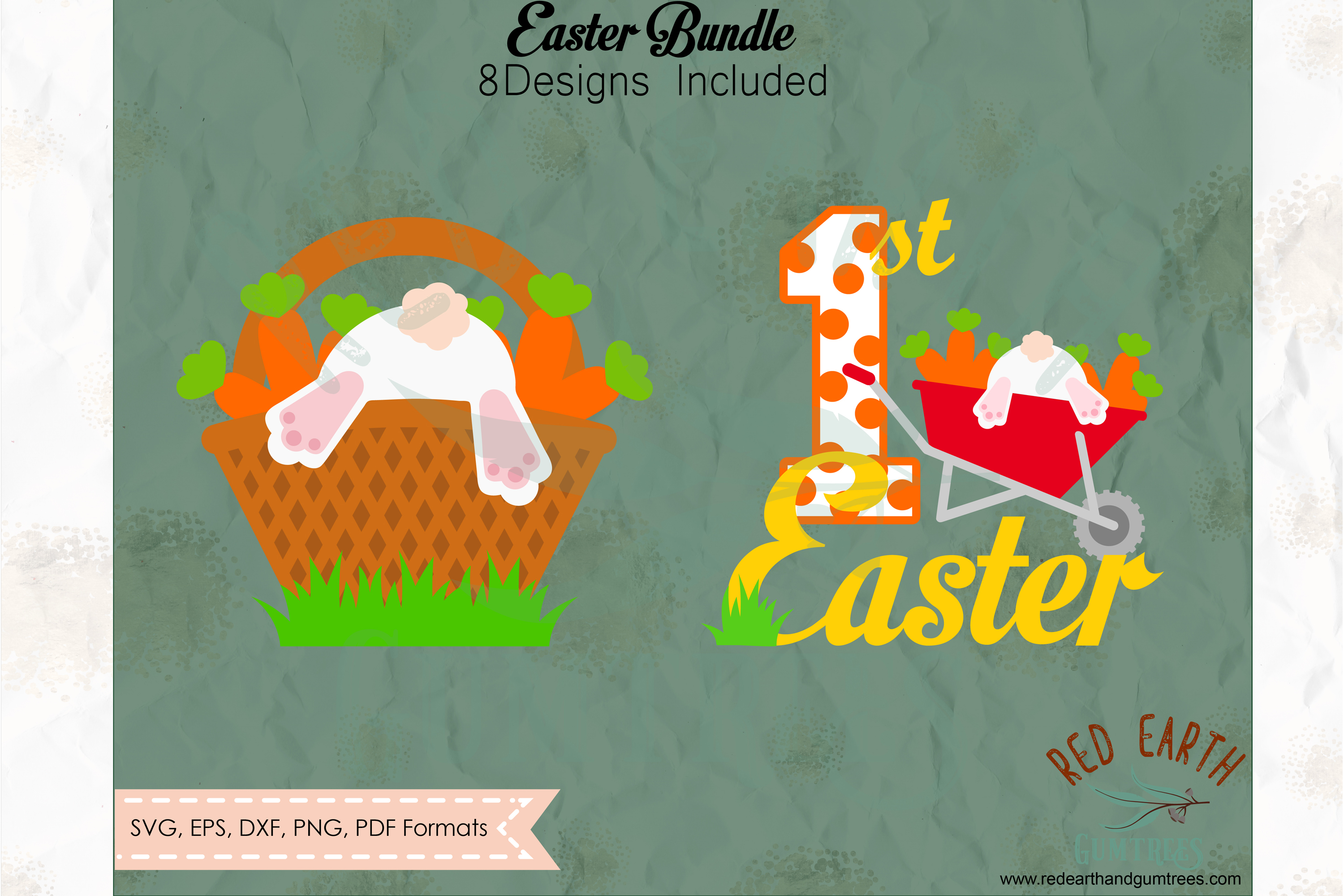 Easter bundle, Easter rabbits, bunny cut file in SVG format example image 4