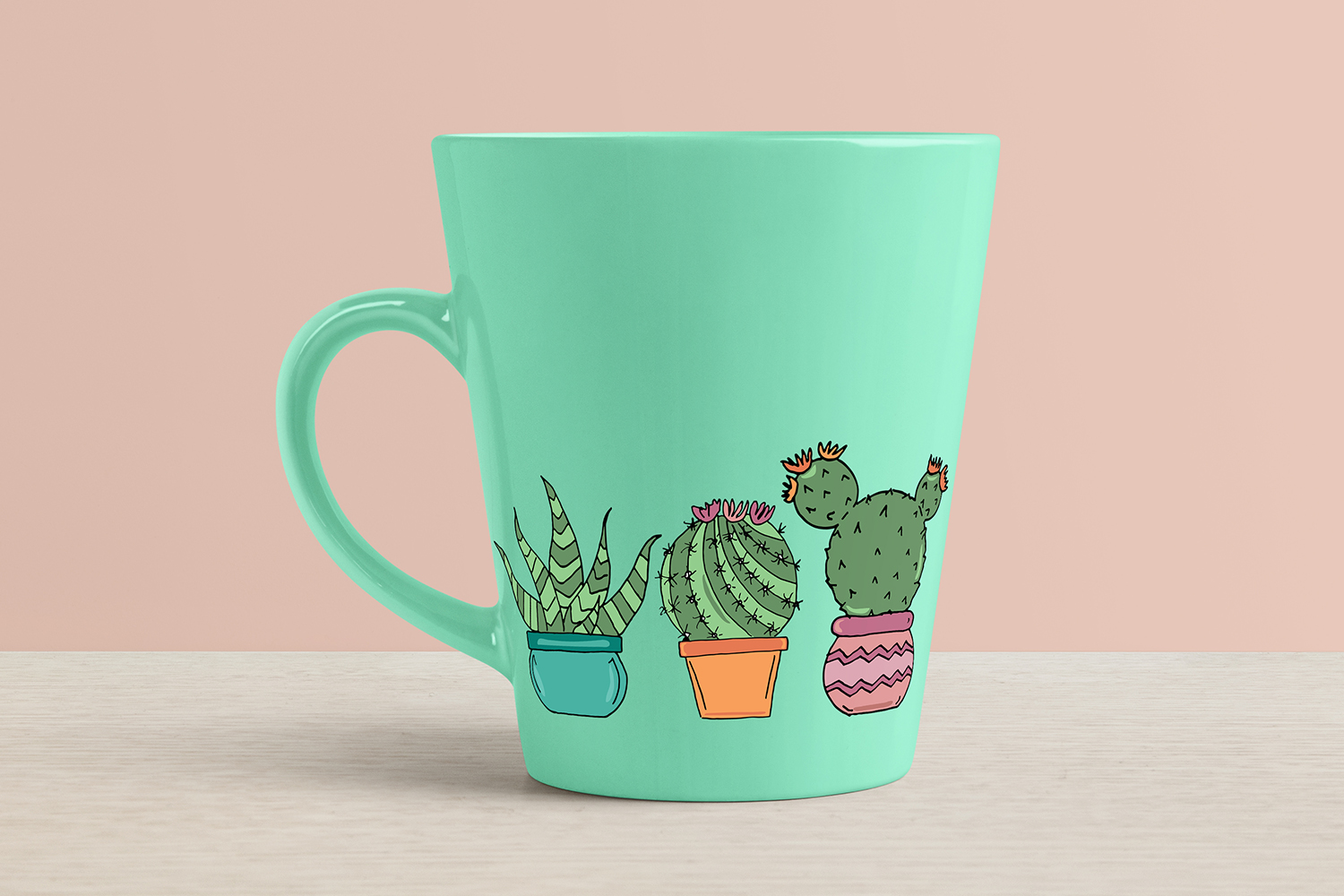 Hand Drawn Cactus Clipart Illustrations Pack PNG JPEG EPS example image 3
