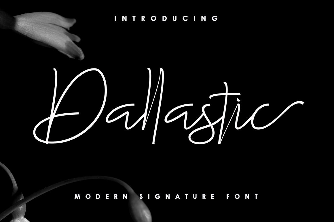 Dallastic Script example image 1