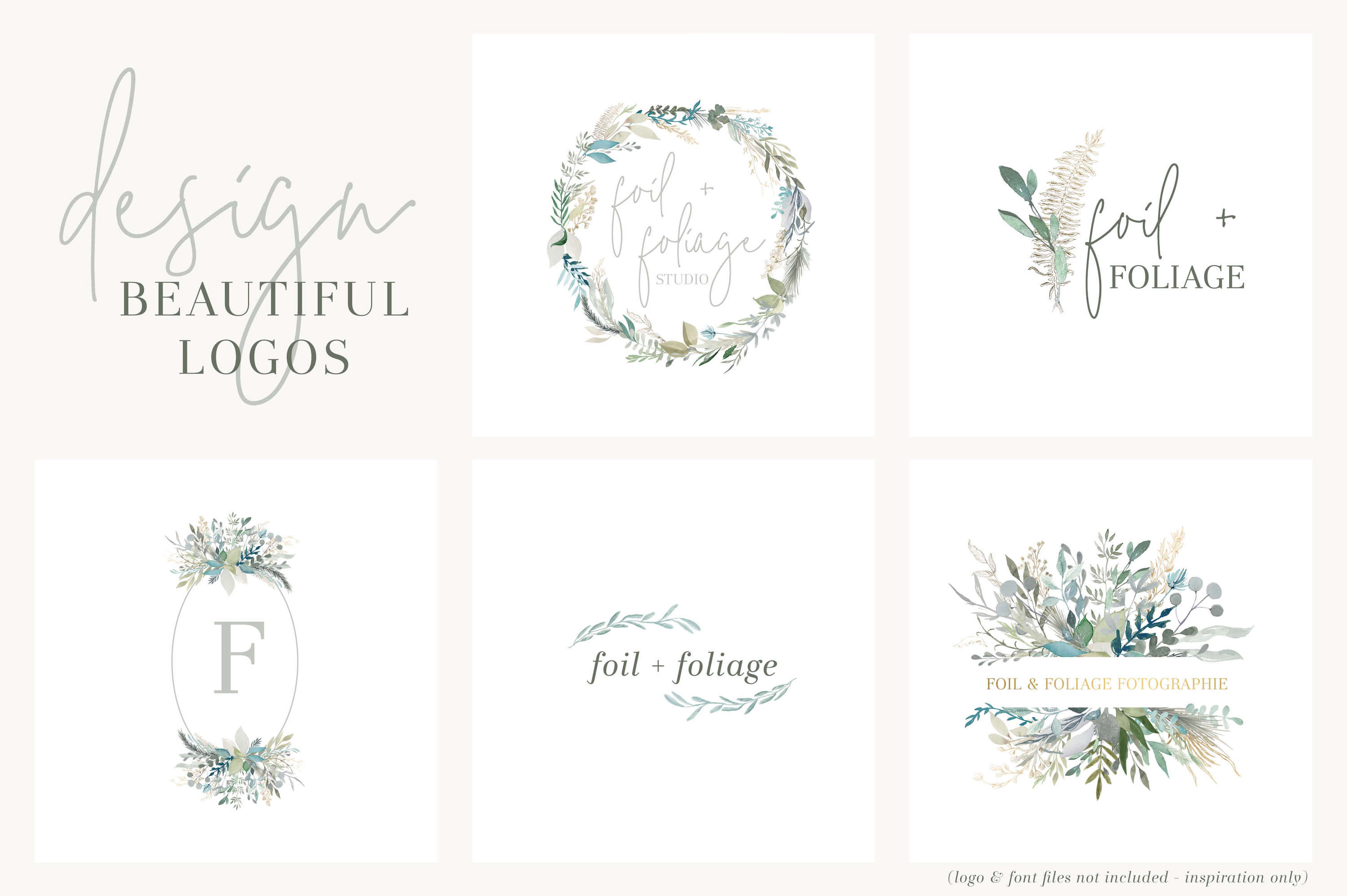 Foliage and Foil Botanical Clipart example image 5