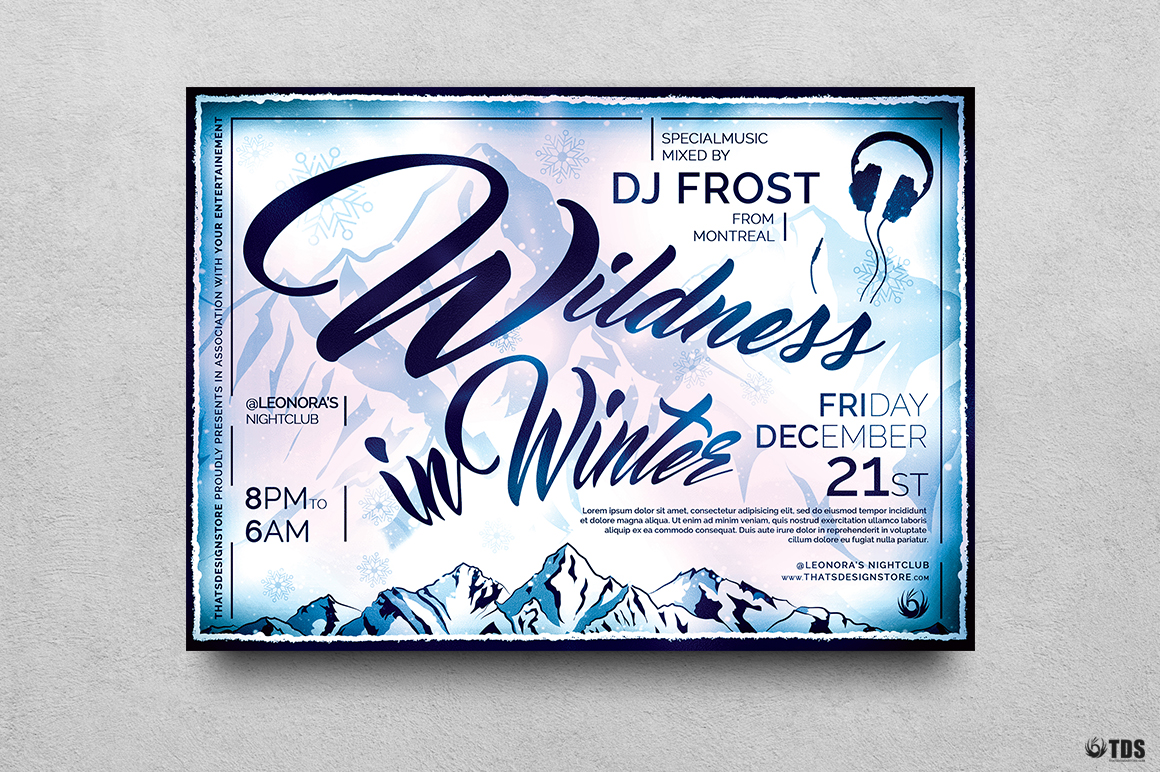 Wildness in Winter Flyer Template example image 1