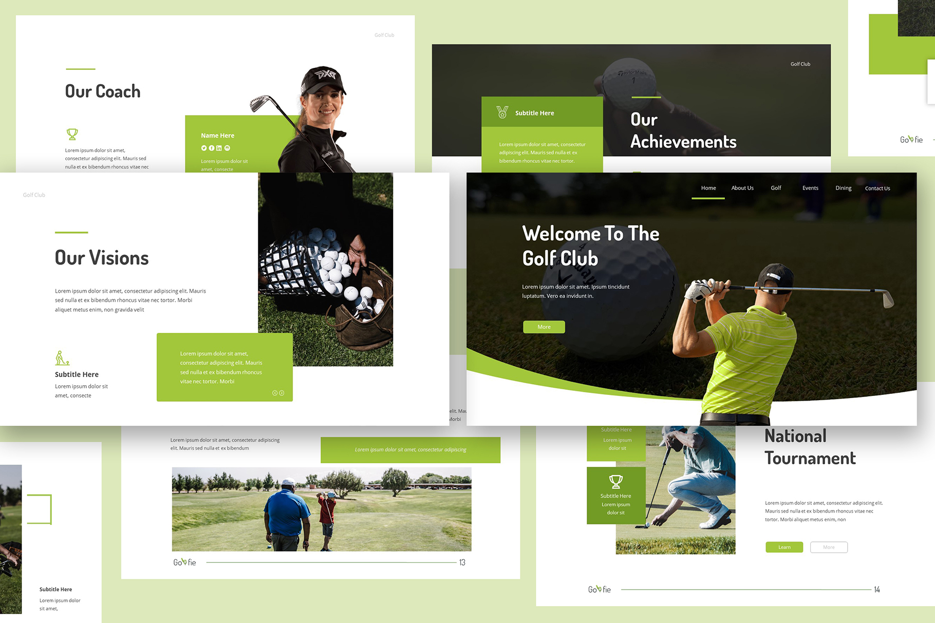 Golfie Golf Powerpoint Presentation example image 2