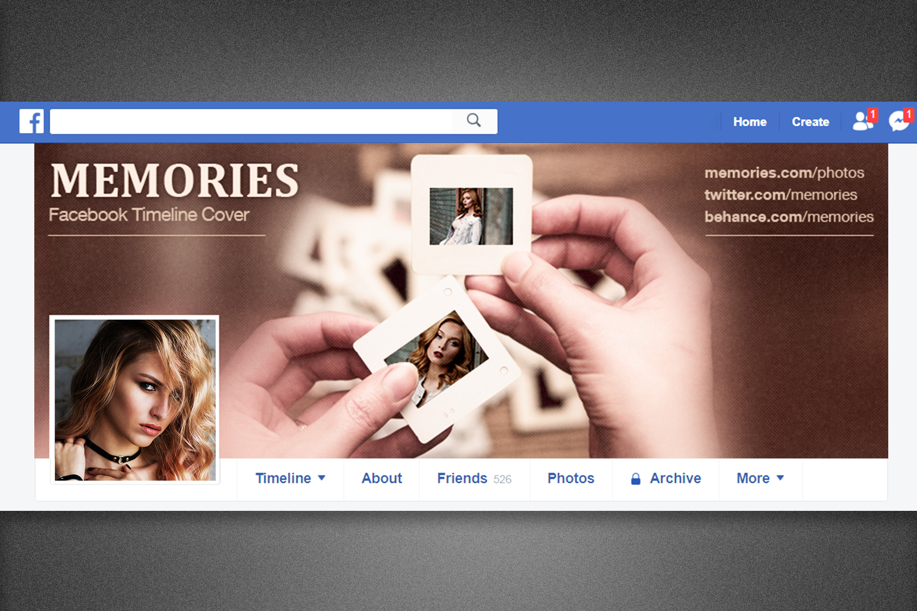 Memories Facebook Timeline Cover example image 1