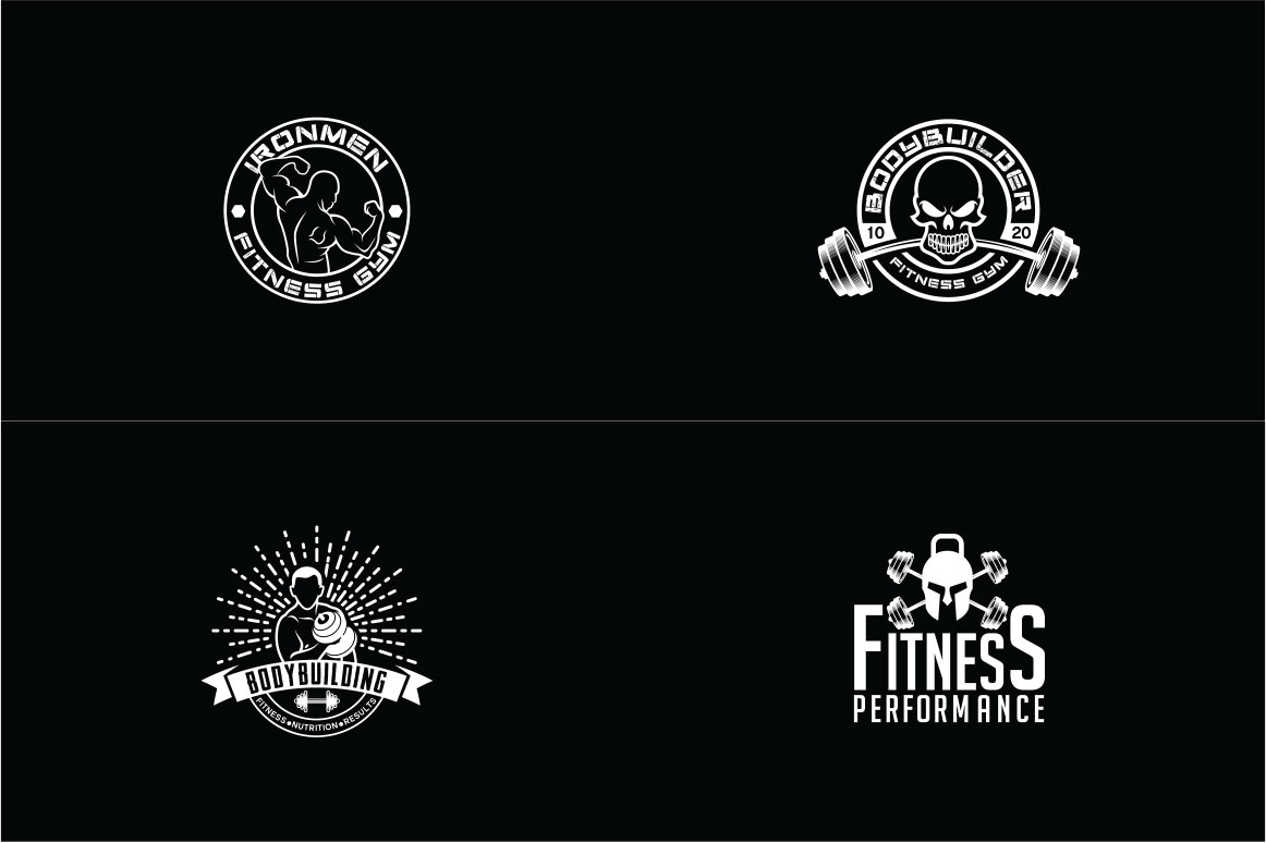 83 fitness gym bundle Logos Labels & Badges example image 7