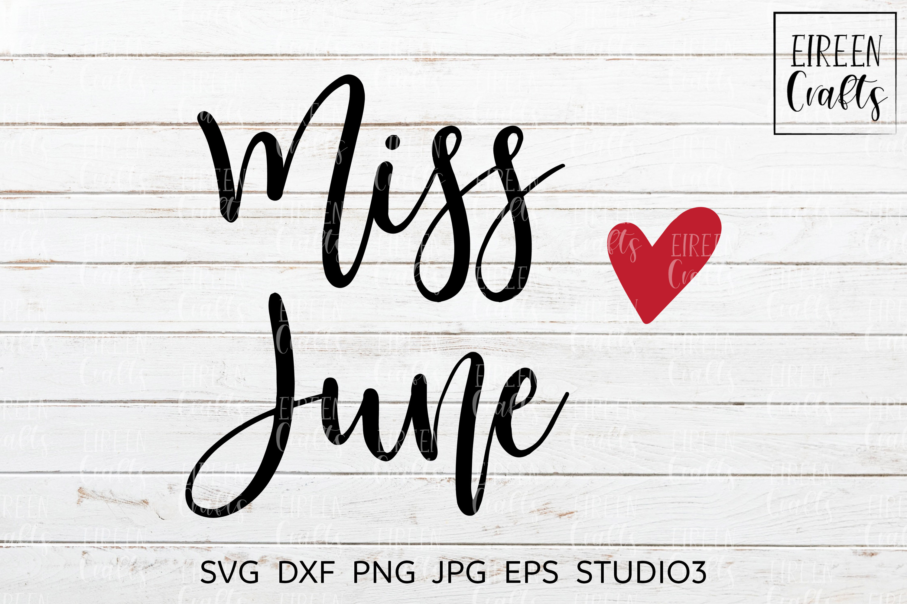 Miss June SVG - cut file for Cricut & Silhouette example image 1