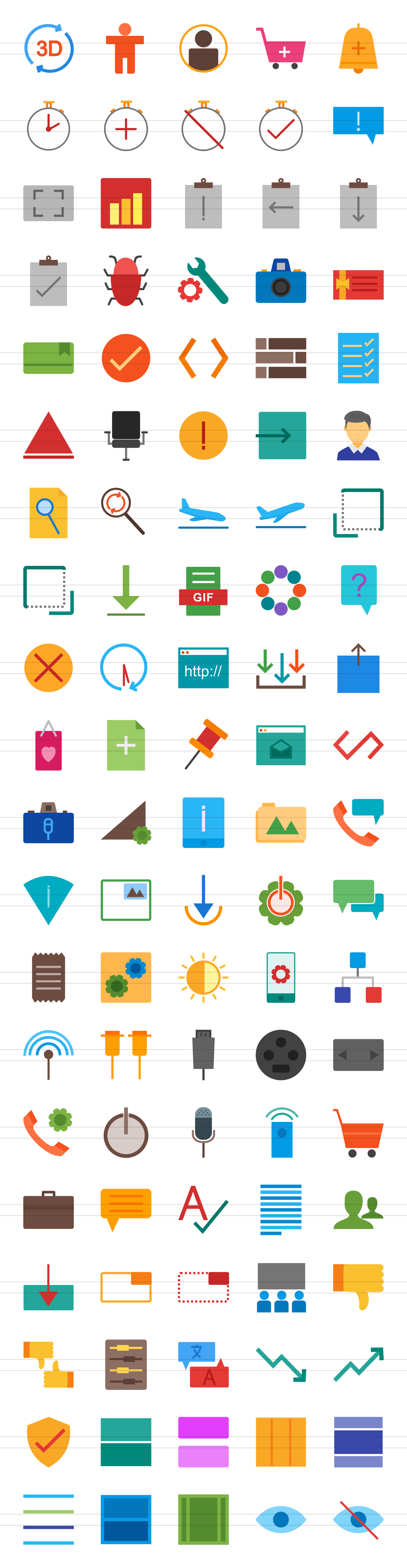 100 Material Design Flat Icons example image 2