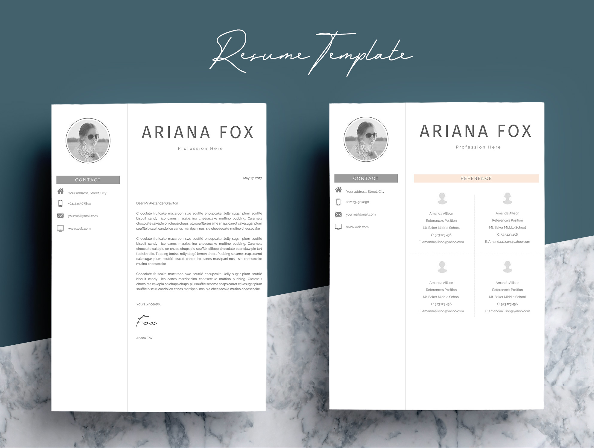 Creative Chic Resume Template Design example image 7