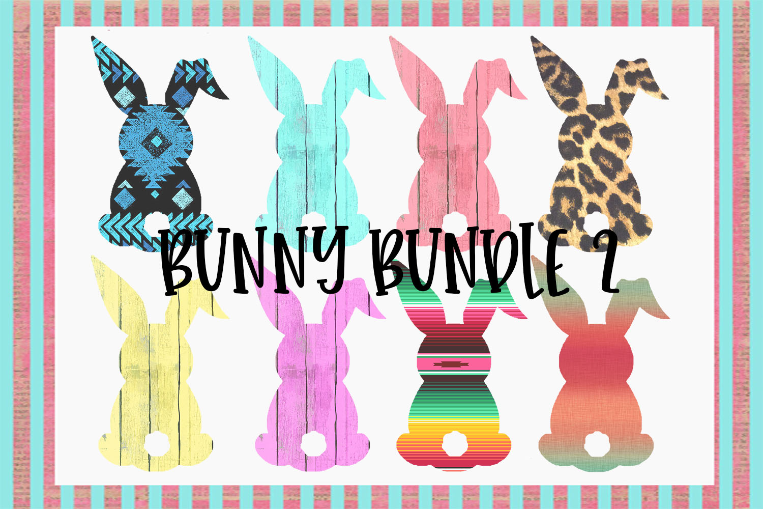 Easter Bunny Sublimation Bundle 2 example image 1