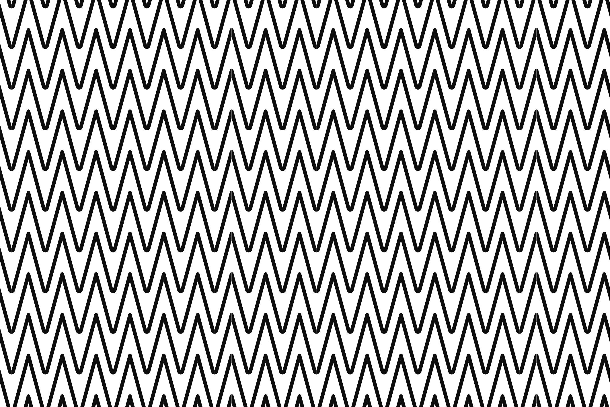 Wave&Zigzag seamless patterns. B&W. example image 8