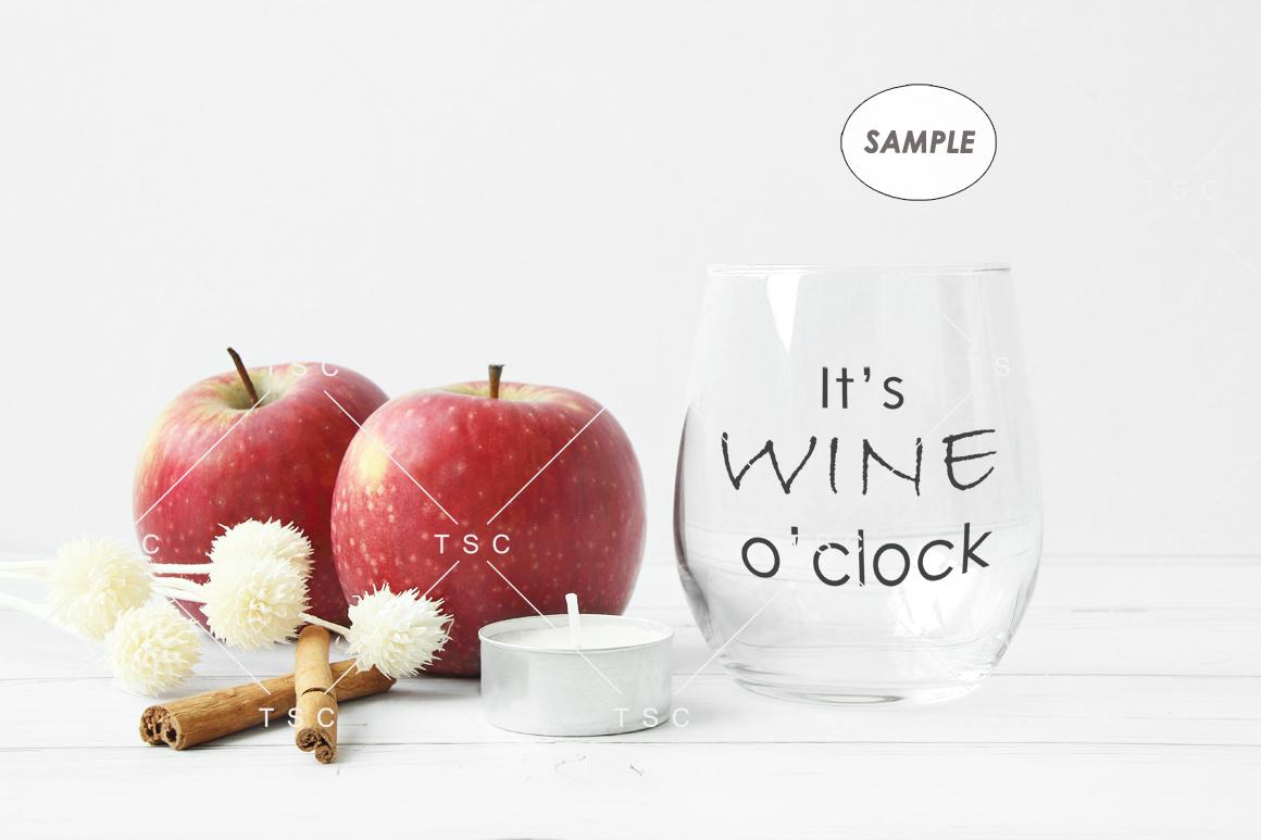 Wine Glass Mockup / Stemless Wine Glass Mockup example image 2