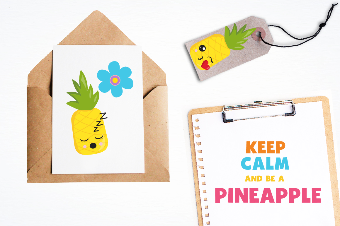 Summer Pineapples graphics and illustrations example image 4