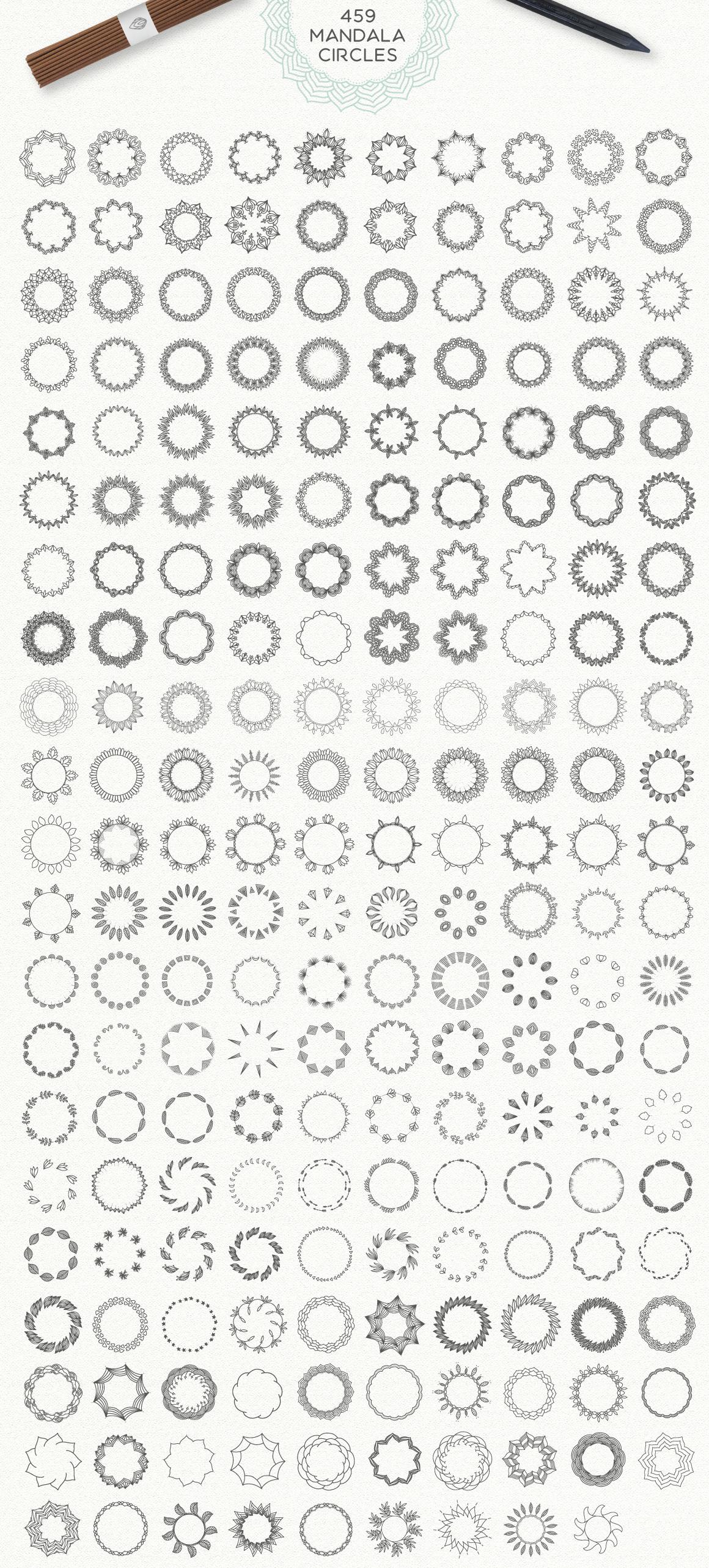 Mandala Collection [630 Elements] example image 4