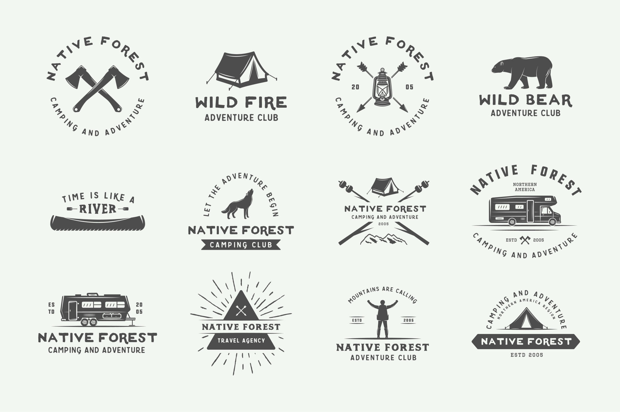 Camping and Adventure Emblems example image 2