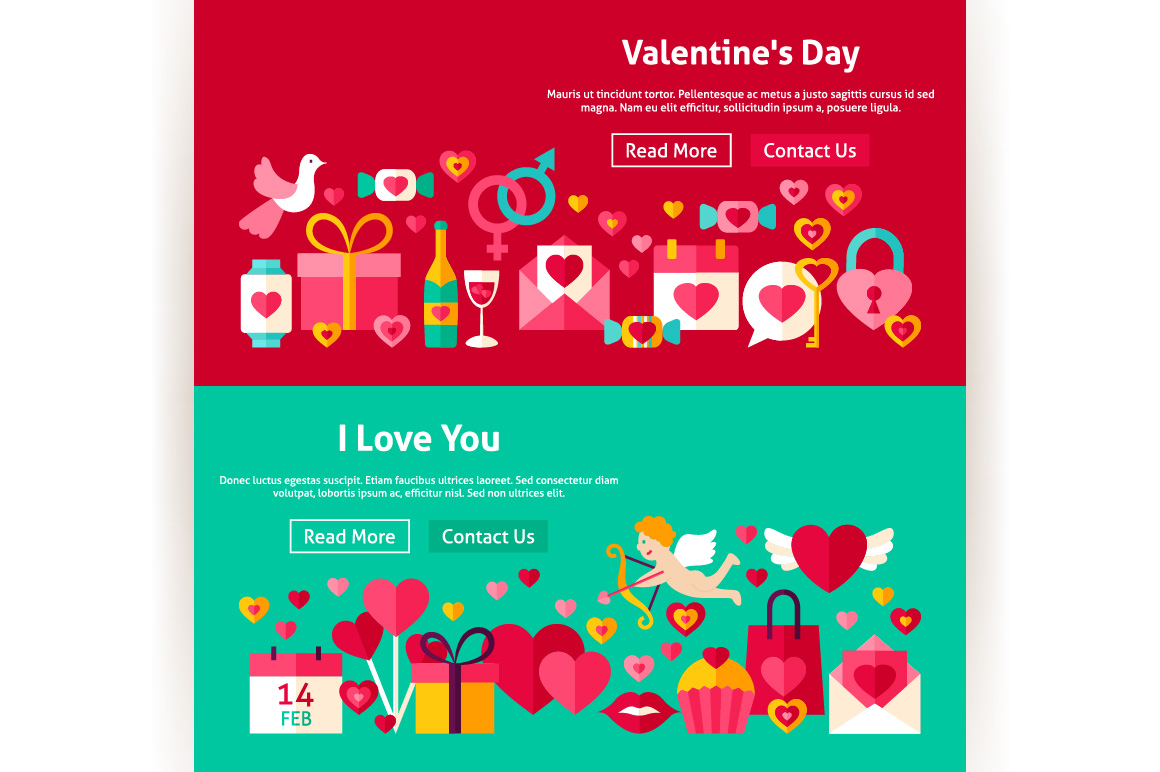 Valentine's Day Website Banners example image 2