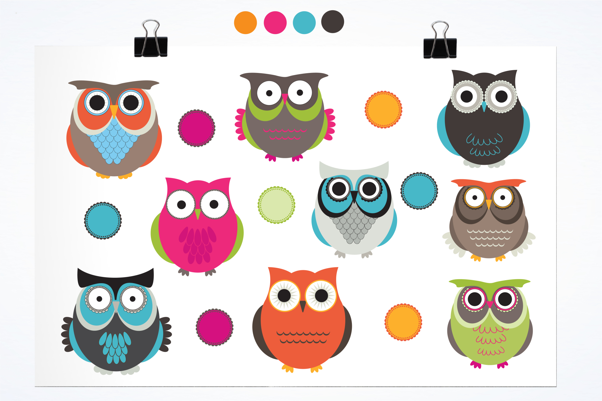 Owl Hoots graphics and illustrations example image 2