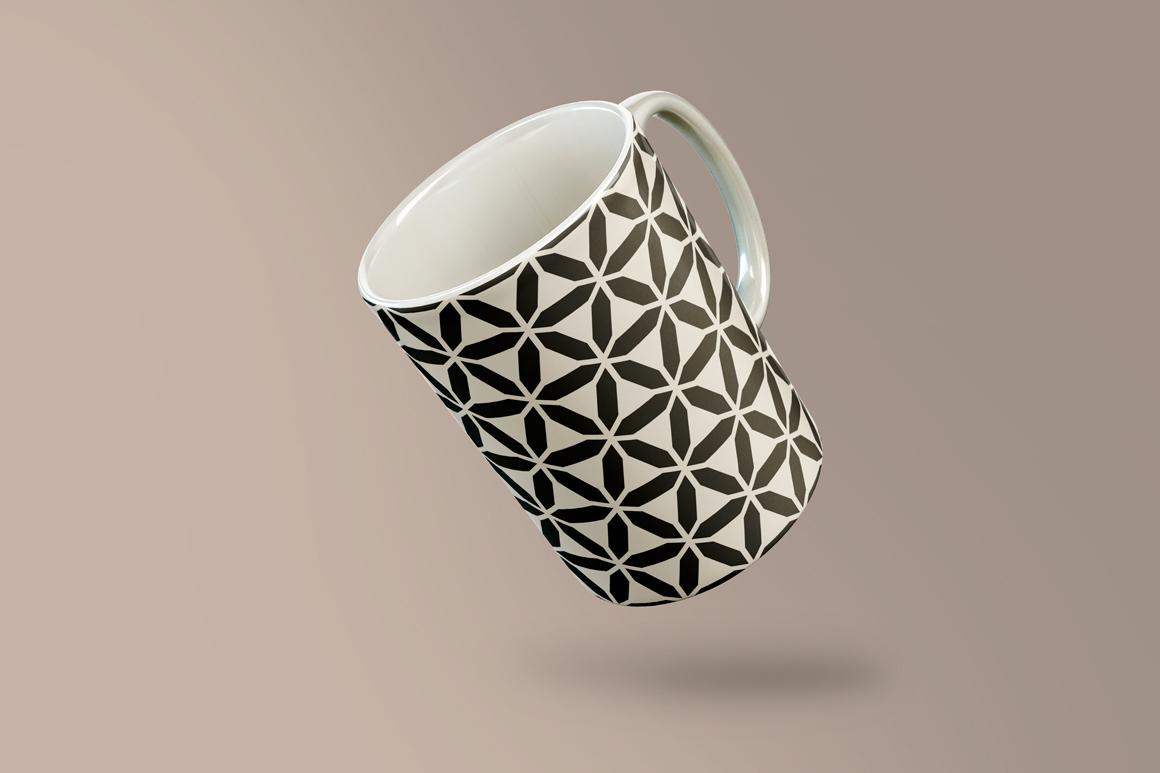 Set of seamless geometric patterns example image 5