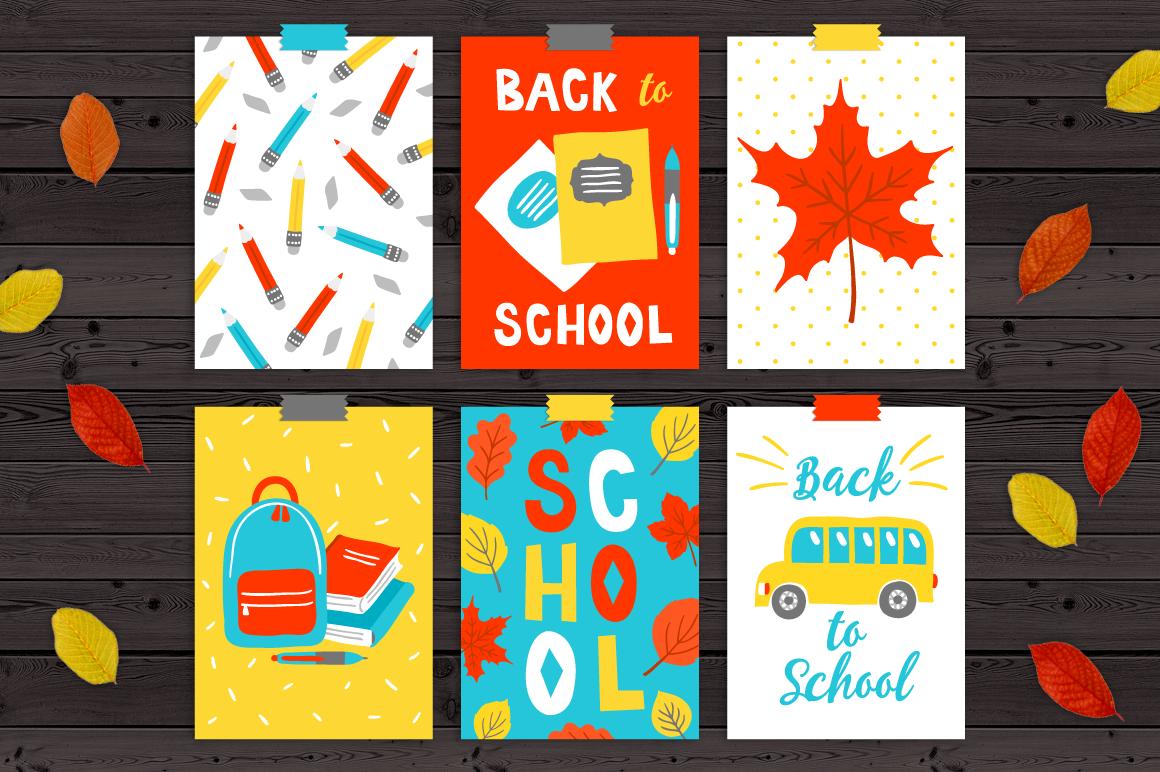 12 School Cards & Bonus Patterns example image 2