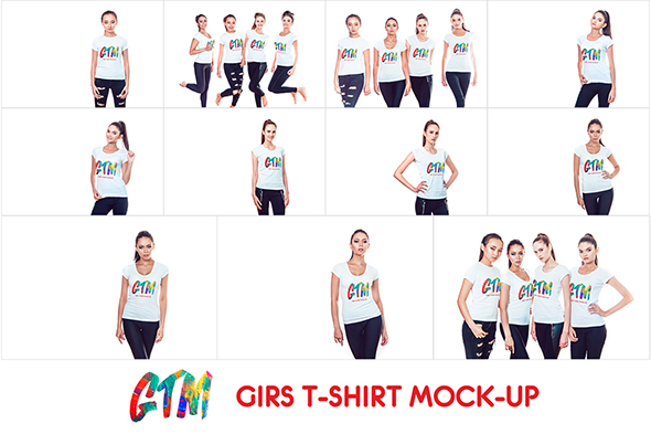 Women's T-shirts Mock-Up example image 10