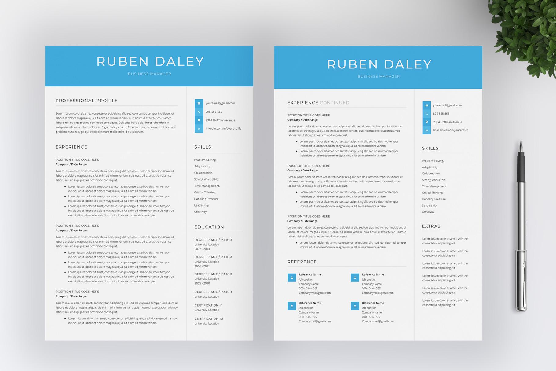 Modern Resume Template / CV Template example image 3