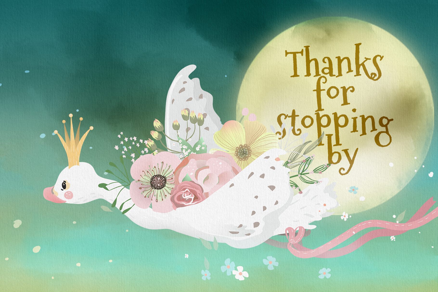 Romantic Swans Clipart example image 4