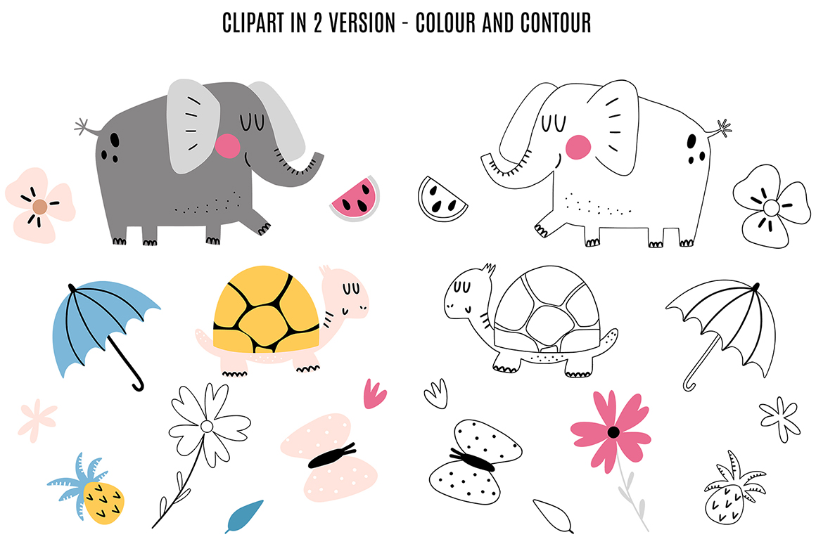 Cute elephant collection example image 9