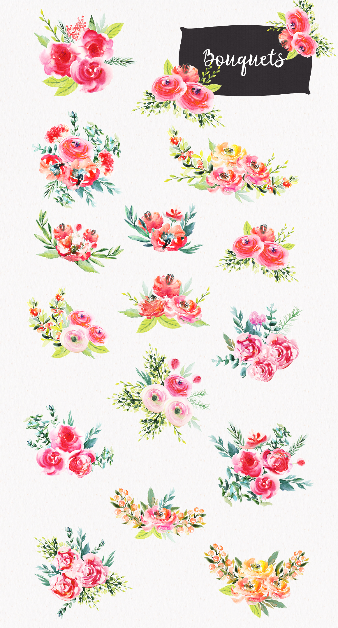 Watercolor Bright Flowers example image 4