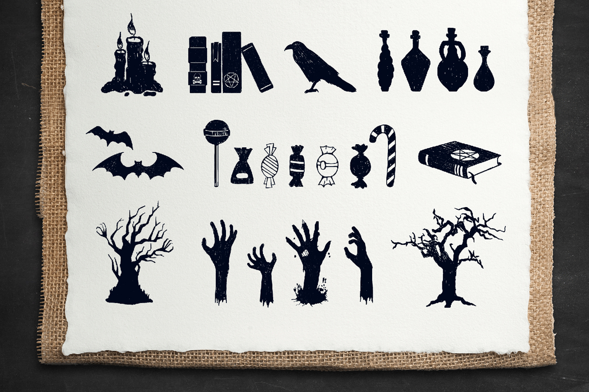 Halloween. 50 Hand Drawn Objects example image 6