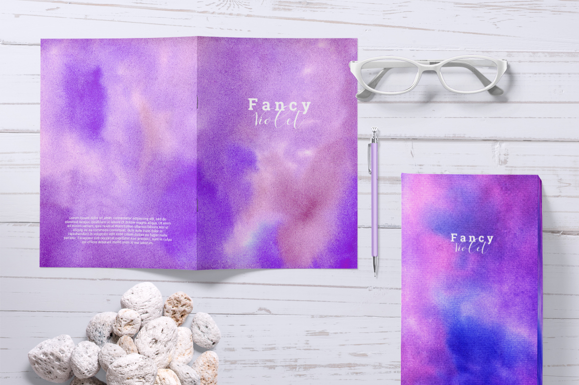 Fancy Violet - watercolor backgrounds example image 2