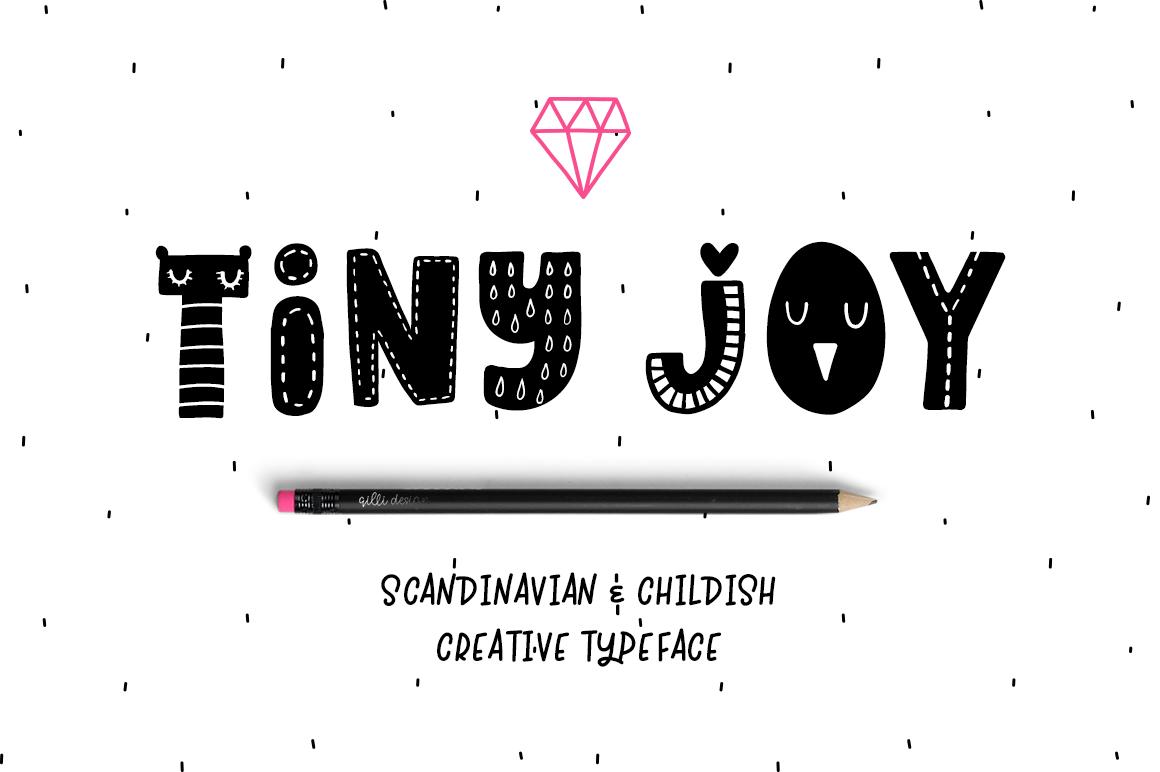 Tiny Joy Font - Scandinavian & Kids example image 1