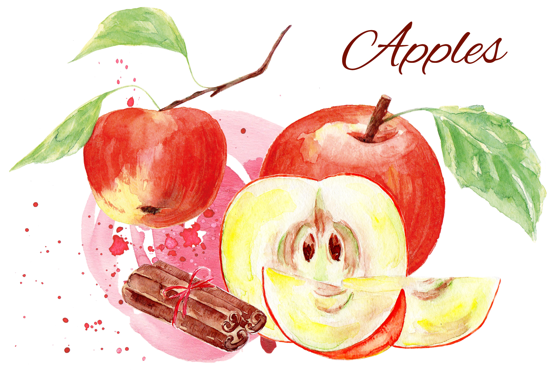 Fruits watercolor collection example image 2
