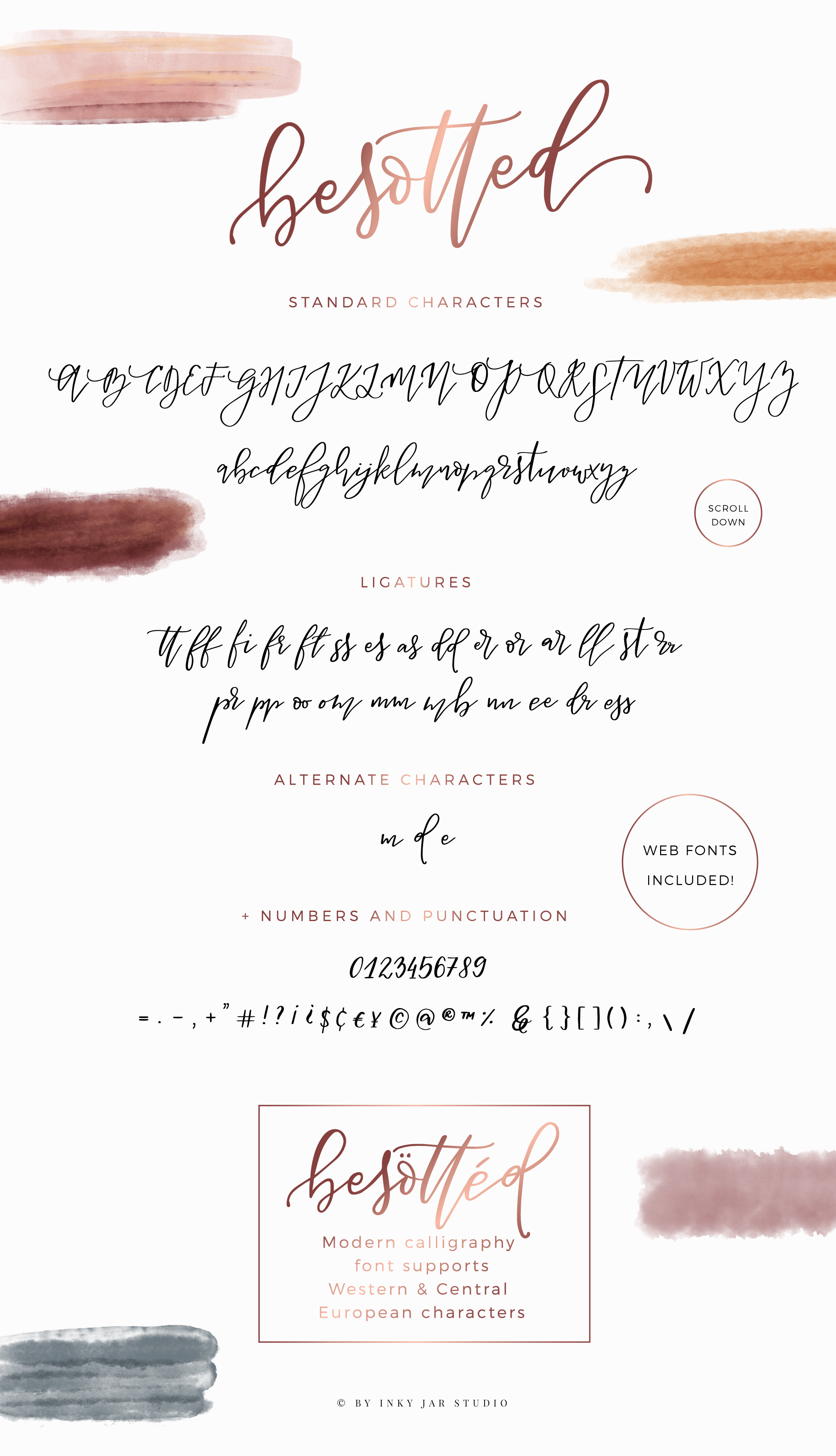 Besotted Modern Calligraphy Script example image 5