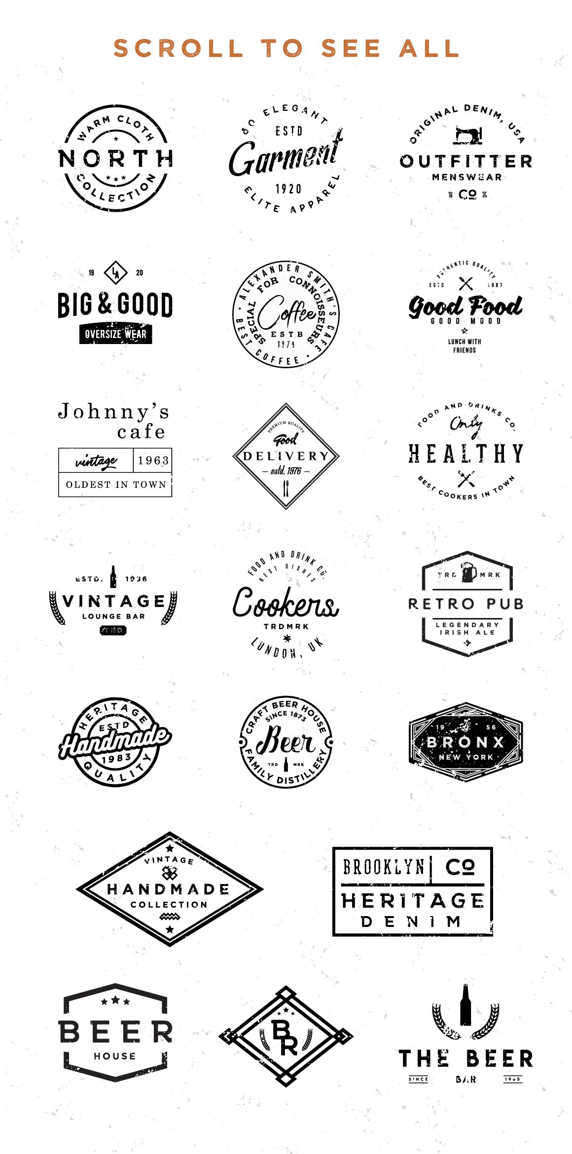 Vol.1   Vintage Logo Templates example image 3
