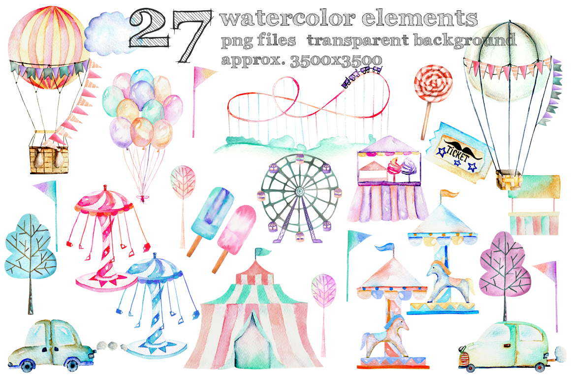 Amusement park clip art example image 2