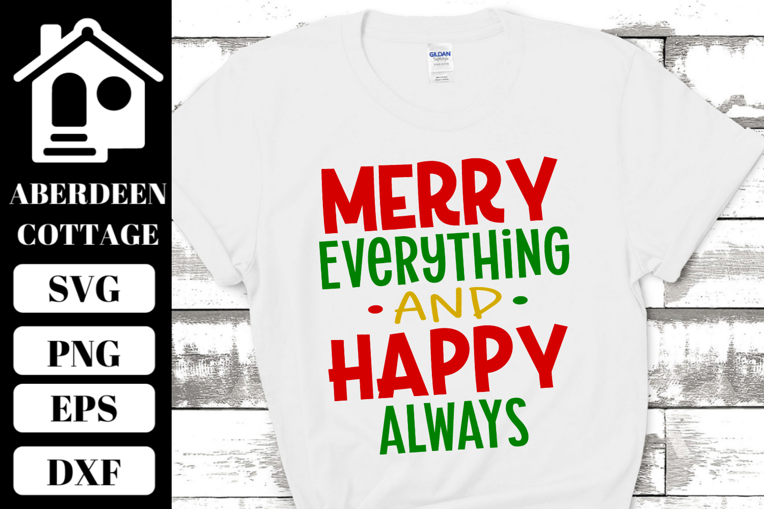 Merry Everything Happy Always SVG | PNG | DXF | EPS example image 2