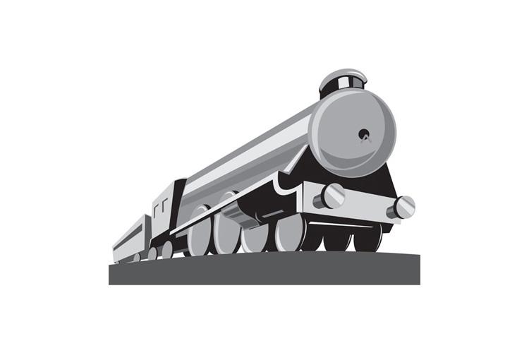Steam Train Locomotive Retro example image 1
