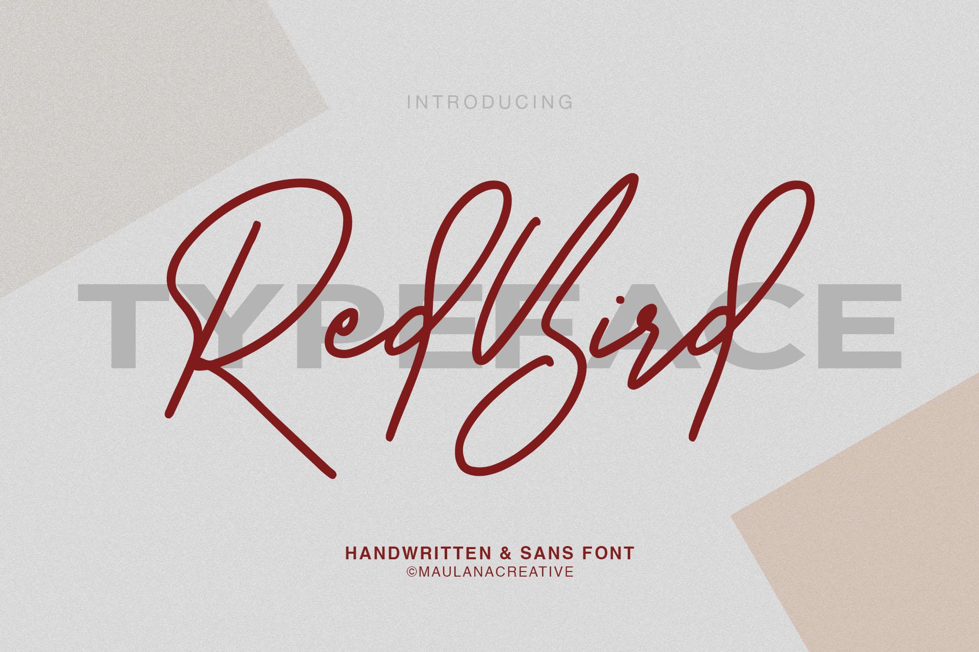 Redbird Signature Font Free Sans example image 1