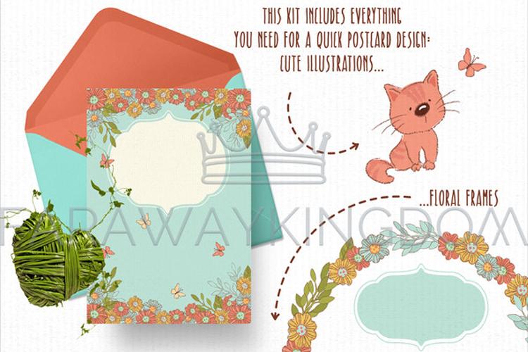 SPRING GARDEN Woman Season Work Vector Illustration Set example image 4