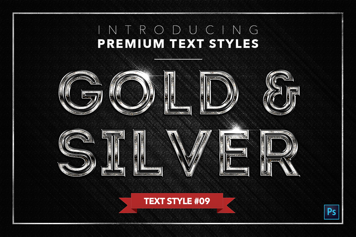 Gold & Silver #3 - 15 Text Styles example image 2