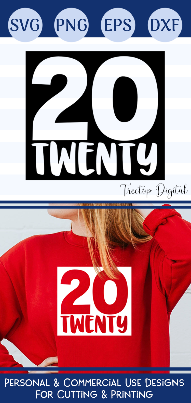 2020, A 20 Twenty New Year SVG Cut or Print File example image 6