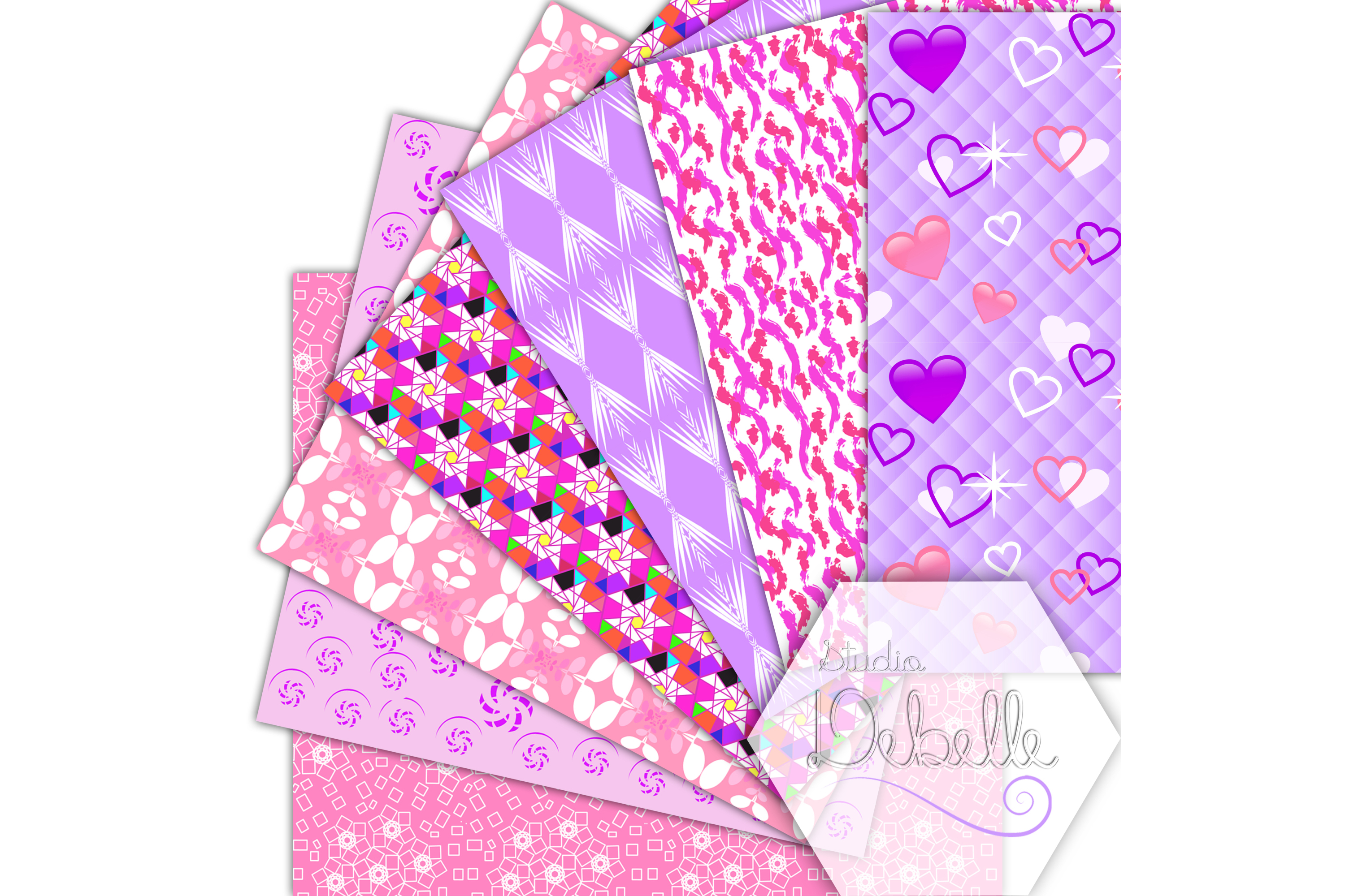 Fashion Pink digital paper seamless pattern example image 3