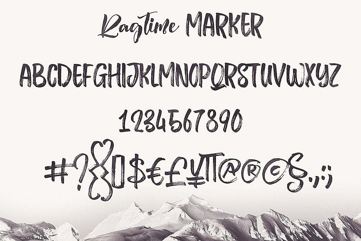 Ragtime - Brush Font Duo example image 6