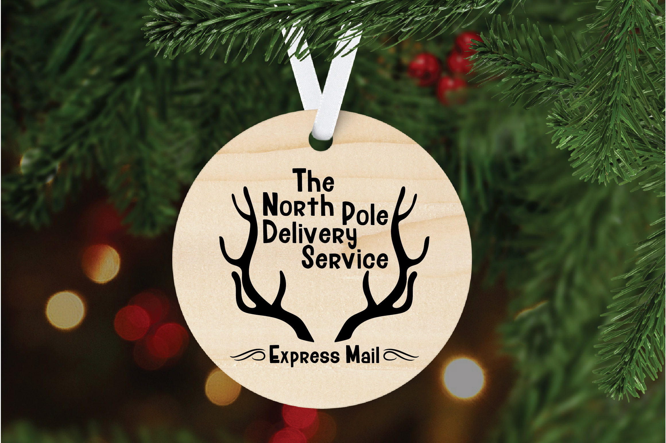 Christmas SVG Cut File - North Pole Delivery Service SVG DXF example image 6