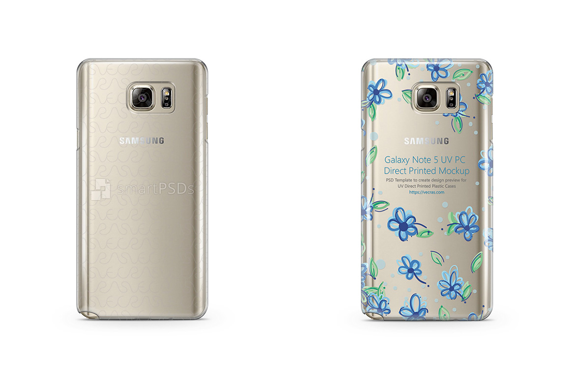 Galaxy Note 5 UV PC Clear Case Mockup 2015 example image 1