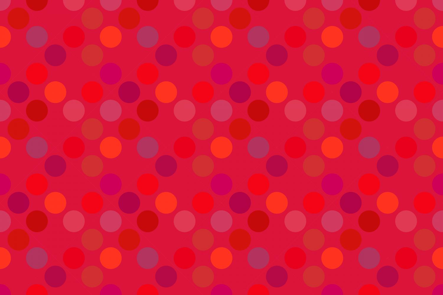 24 Seamless Red Dot Patterns example image 22