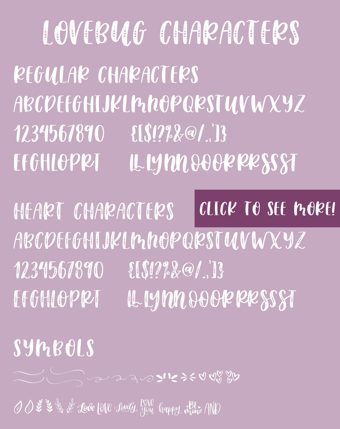 Lovebug Hand Lettered Font Trio, Valentine's Heart Font example image 8