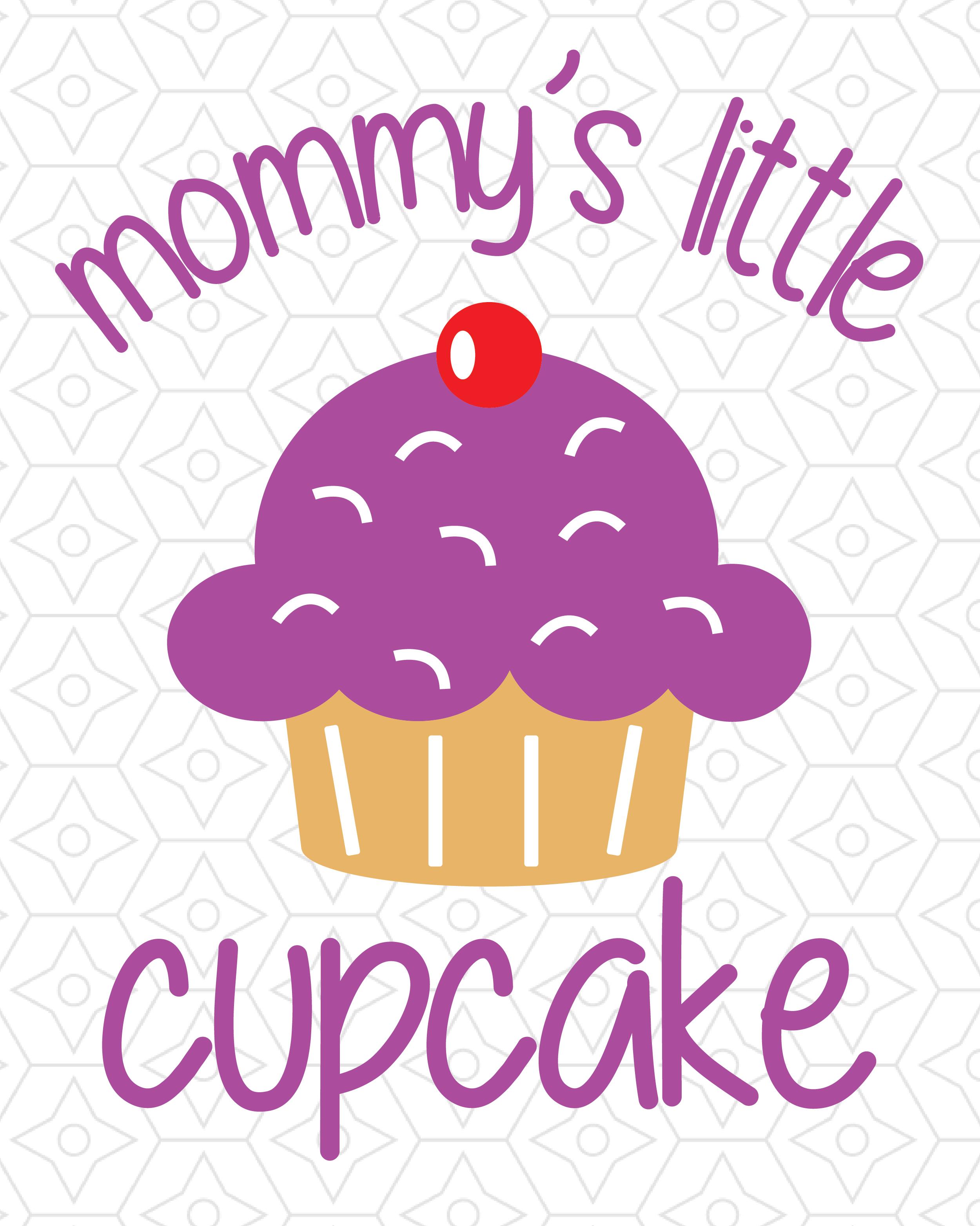 Mommys Little Cupcake Baby Onesie Design Svg Dxf Eps