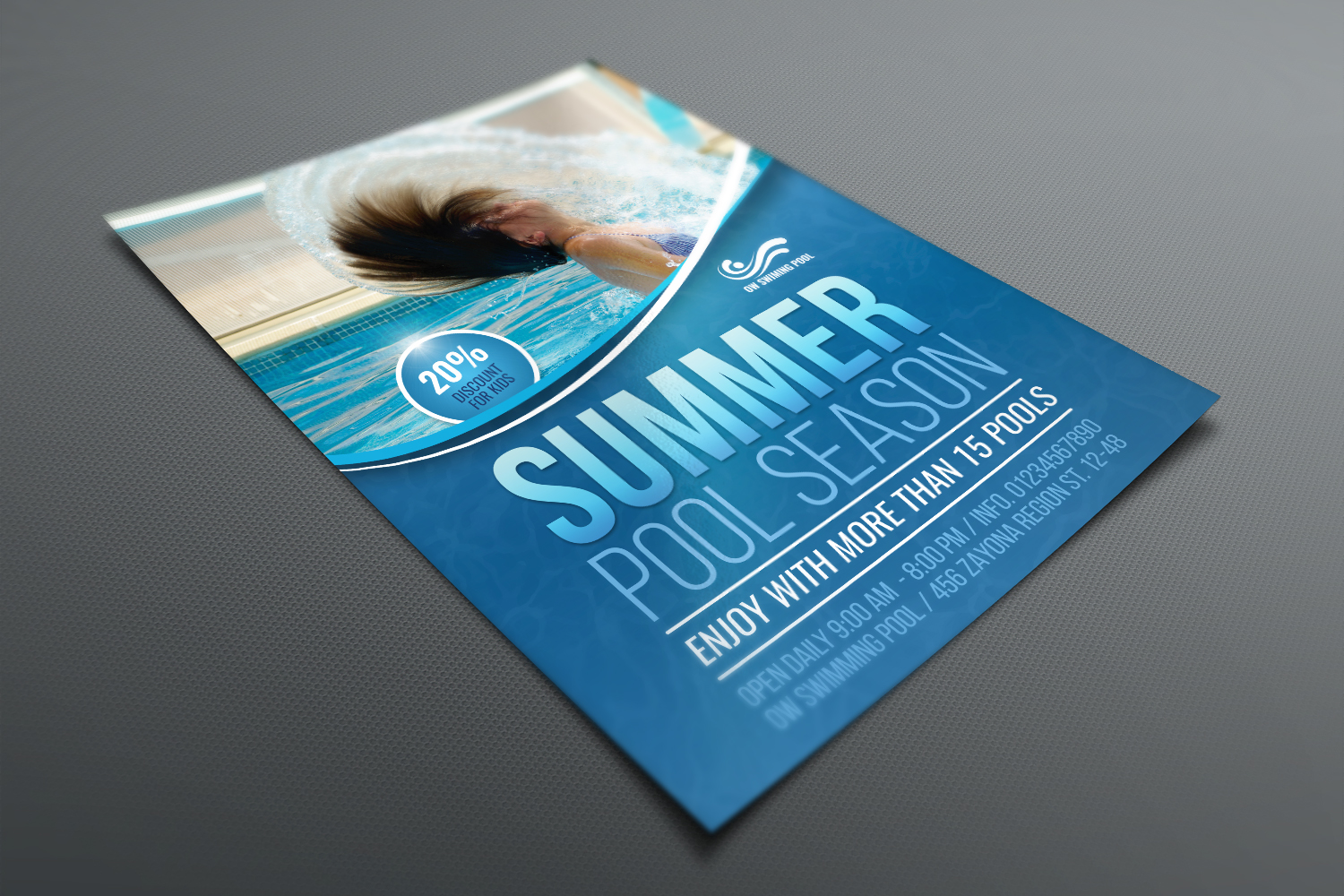 Swimming Pool Flyer Template example image 3